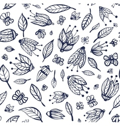 Flowers ornament seamless pattern vector