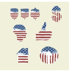 Patriotic symbols composed flag part2 vector