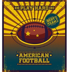 American football poster design vector
