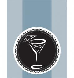 cocktail design background vector image