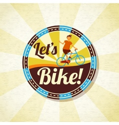 Summer bike riding retro background vector