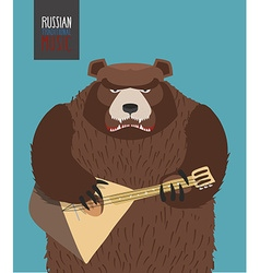 Bear was playing the balalaika russian national vector