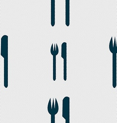 Eat sign icon cutlery symbol fork and knife vector