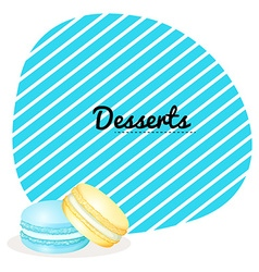 Border design with macaron vector