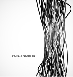 Absract black background with vertical lines vector image