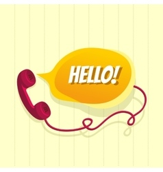 Phone with chat bubble vector