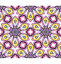 Kaleidoscopic abstract lily pattern vector