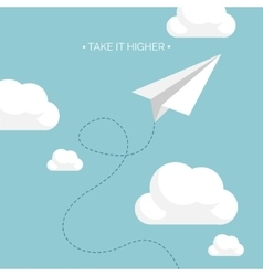 Flat paper plane launch vector