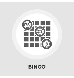 Bingo icon flat vector