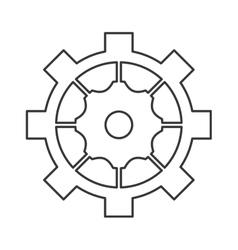 Industrial wheel cog gear symbol vector