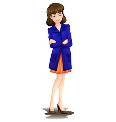 A female office worker vector