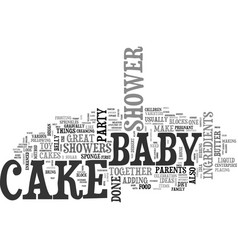 baby shower cake ideas text word cloud concept vector image vector image