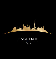 Baghdad iraq city skyline silhouette black vector