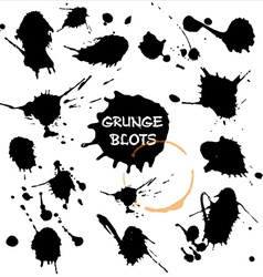 Blots set grunge texture vector