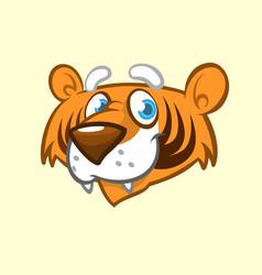 cartoon tiger head icon vector image vector image