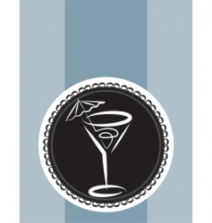 cocktail design background vector image vector image
