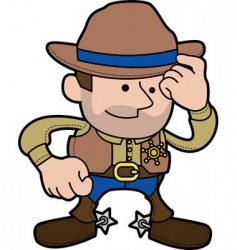 cowboy sheriff vector image vector image