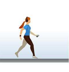 cute sport girl running morning jogging vector image vector image