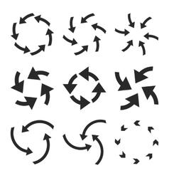 Cyclone arrows flat icon set vector