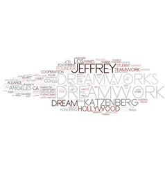 dreamwork word cloud concept vector image