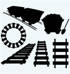 Elements of the railway vector image
