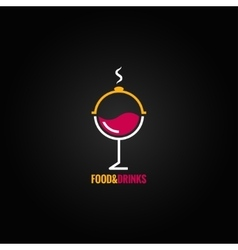food and drink design background vector image vector image