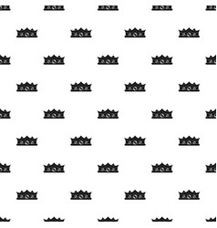 king crown pattern vector image vector image