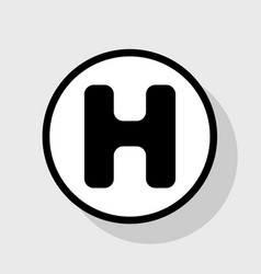 Hh h h black white grey alphabet letter logo icon Vector Image
