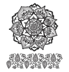 Mandala style abstract flower vector