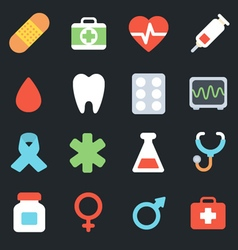 Medicine flat icons vector