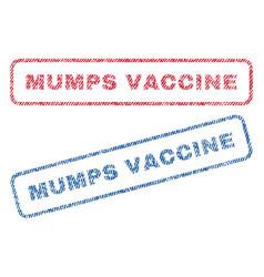 Mumps vaccine textile stamps vector