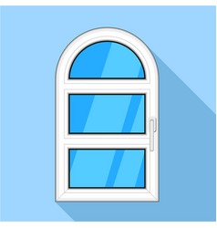 One door arched plastic window icon vector