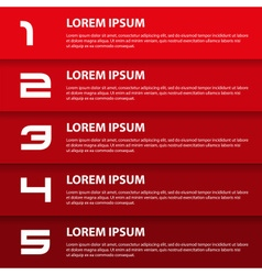 Red modern design business horizontal banners with vector