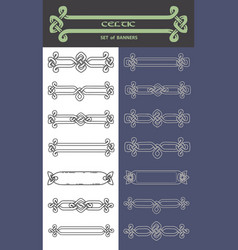 Set of banners in celtic style vector