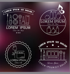 set of cosmetic and makeup labels badges logos vector image