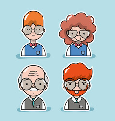 set student and teacher to education lifestyle vector image