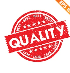Stamp sticker Quality tag collection - - EP vector image