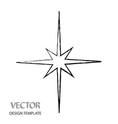 star icon in flat design gray star icon on white vector image