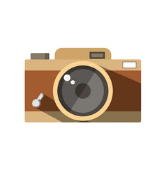 The vintage photo camera vector