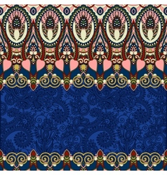 Ultramarine ornamental floral folkloric background vector