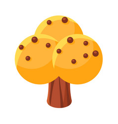 Yellow sweet candy tree colorful cartoon vector