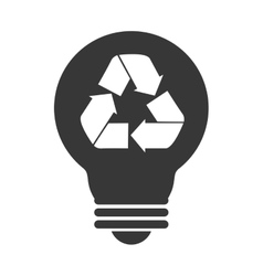 bulb recycling symbol icon graphic vector image