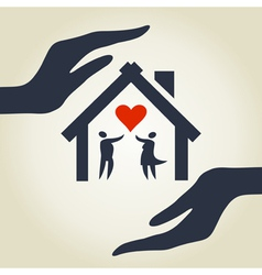 Love house vector image