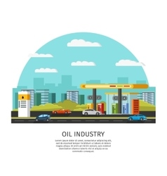 Petrol gas station template vector