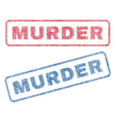 Murder textile stamps vector