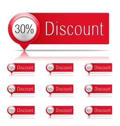 Discounts vector image