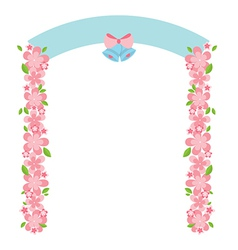Flowers arch vector