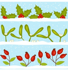 Christmas seamless pattern with snow vector image