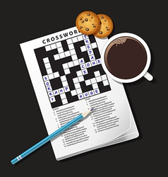 Crossword coffee vector