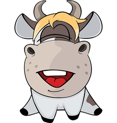 Small cow cartoon vector